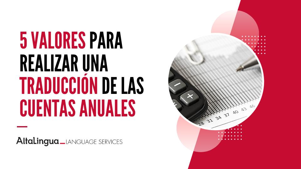 Traducción de las Cuentas Anuales