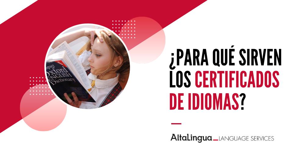 Certificados de idiomas