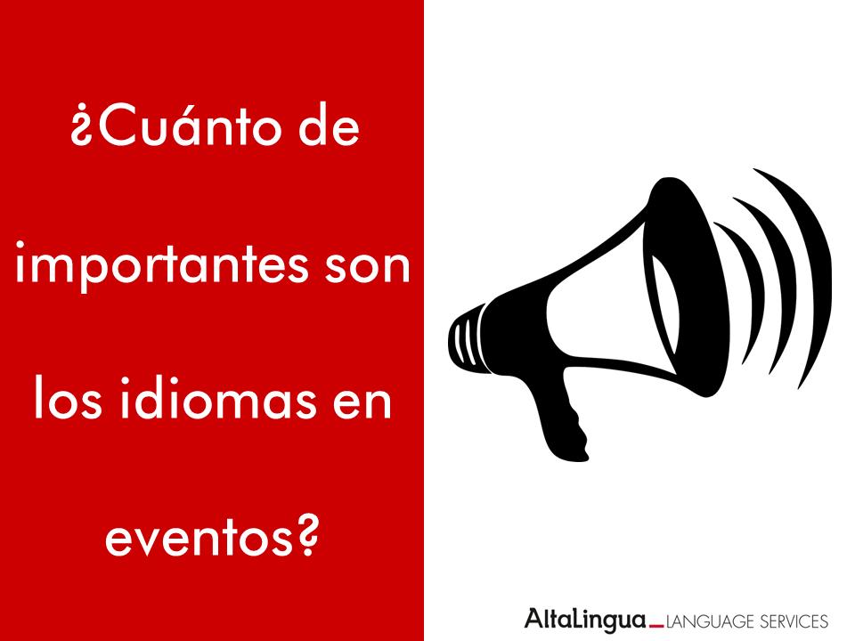 Idiomas en eventos