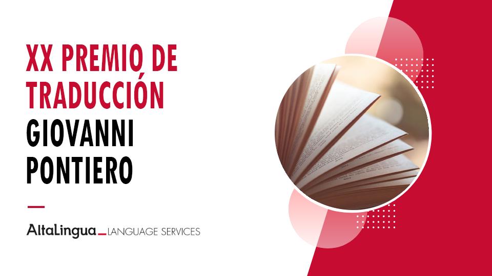 XX Premio de Traducción Giovanni Pontiero