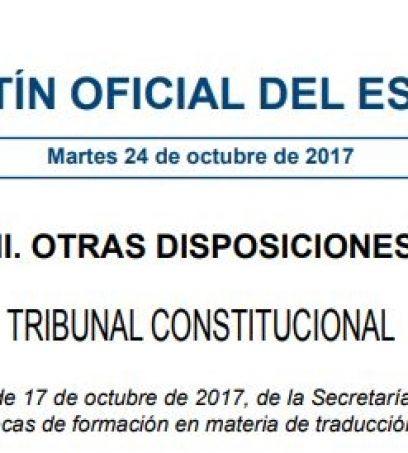 Becas de formación en traducción jurídica.