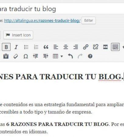 Razones para traducir tu blog